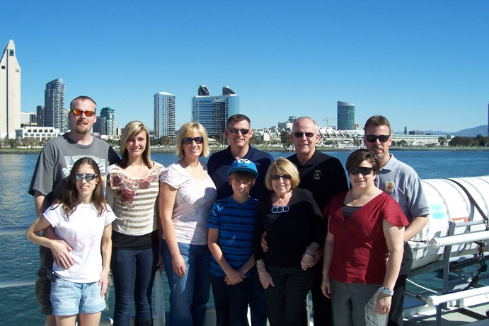 Family photo taken February 2012 in San Diego, CA